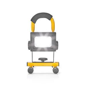 Nedis FLLMB10W Mobiele Led-bouwlamp 10 W 700 Lm Zwart/geel