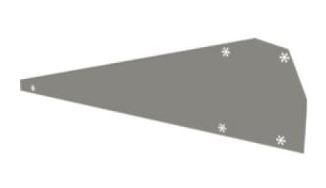 Flatfix Fusion winddeflector rechts 1007205