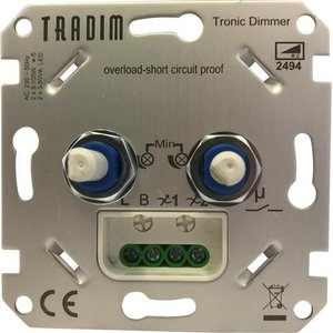 tradim duo dimmer universeel led 2x 3 100w 2494exop euro. Black Bedroom Furniture Sets. Home Design Ideas