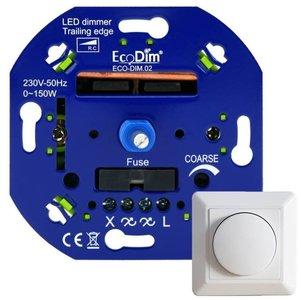 Led dimmer 230V inbouw 0-150W voor alle afdekramen (Fase Afsnijding)
