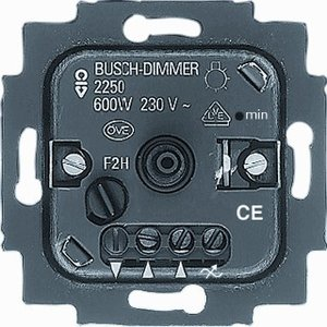 busch jaeger dimmer 2250u voor gloei en halogeenlampen inbouw 60 600w euro. Black Bedroom Furniture Sets. Home Design Ideas