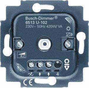 busch jaeger dimmer 6513u 102 tronic voor led gloei en halogeenlamp 40 420w euro. Black Bedroom Furniture Sets. Home Design Ideas