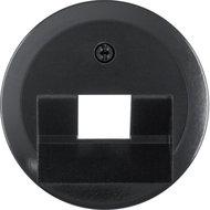 Berker 140701 centraalplaat data 1-voudig zwart glans 1930
