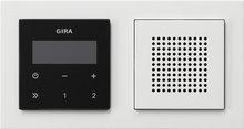 Gira 049572 inbouwradio RDS zwartglaslook compleet E2